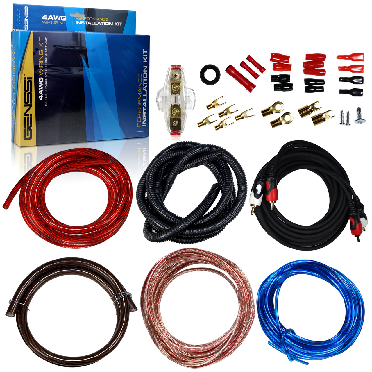 Scosche Kpa5d 1600 Watt 5 Awg Amp Wiring Kit Walmartcom Us Audio 4 Bullz Spak4bl Gauge Car Amplifier Ebay 4awg Installation