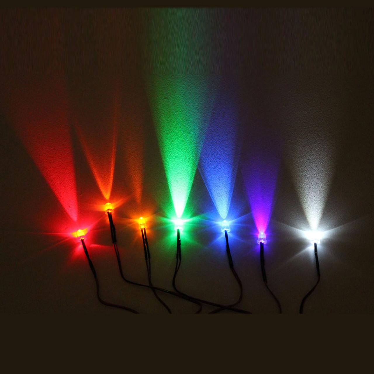 Sensational 5Mm Round Led Lights With 55Cm Wire 12V 10 Pack Genssi Wiring Digital Resources Funapmognl