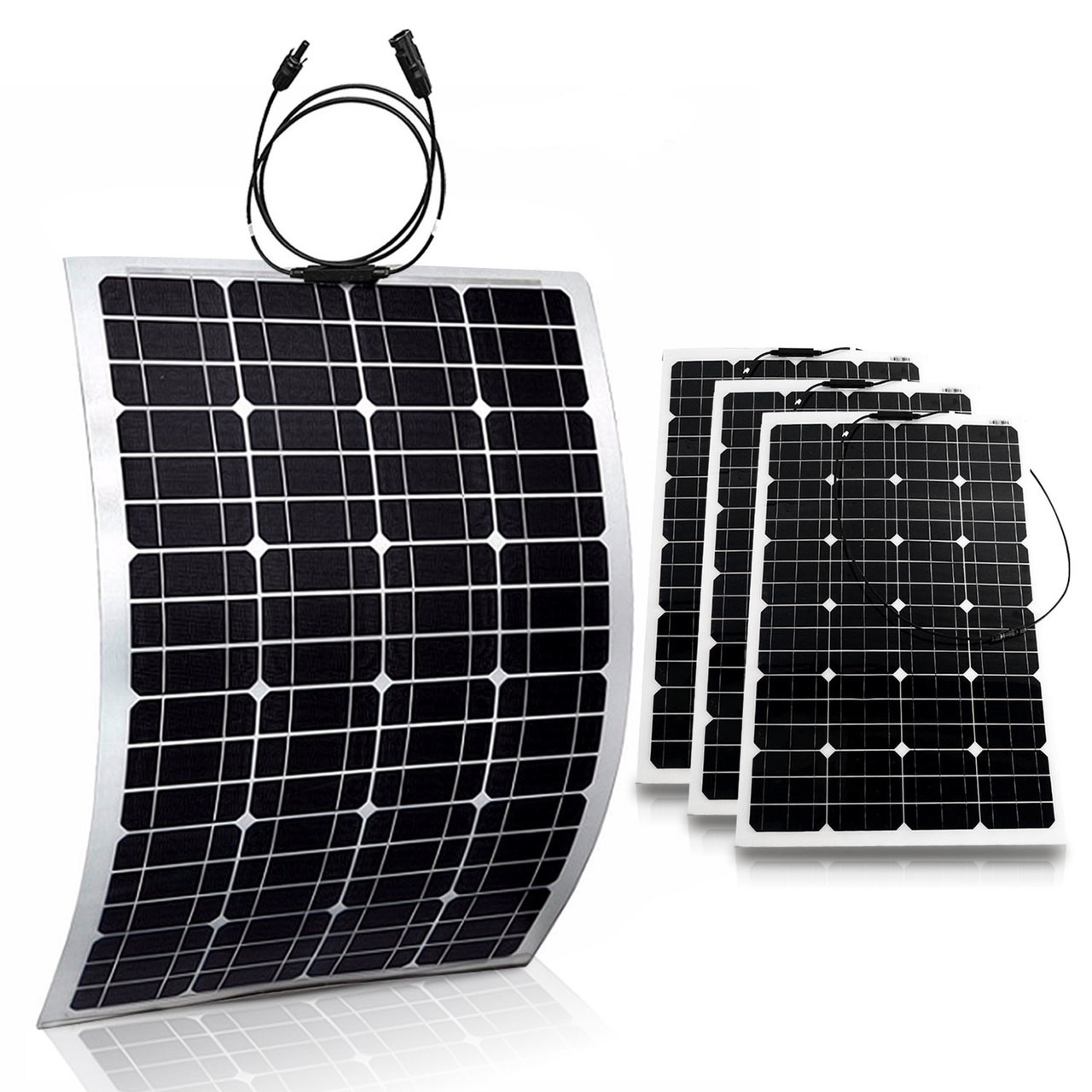4x Flexible 100w 18v Semi Solar Panel Battery Charger For Home Rv Circuit Diagram On Boat 400w