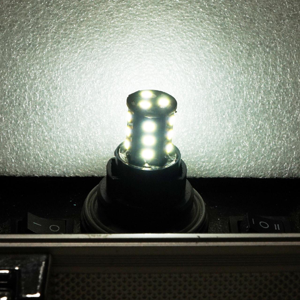GENSSI 7440 White LED Bulbs Reverse Backup Light with Flasher Flashing
