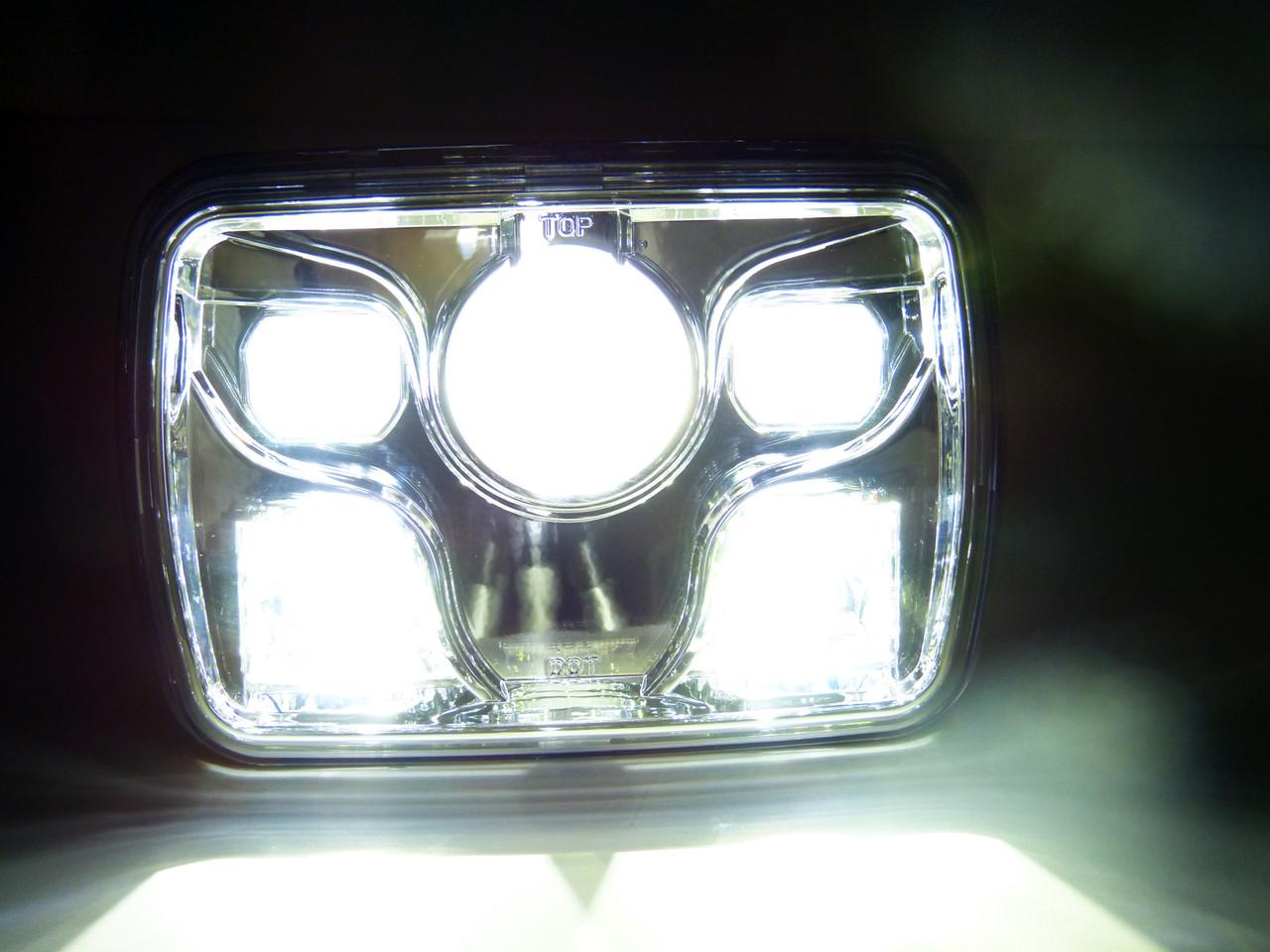 GENSSI 7×6 H6054 200mm LED Projector Headlights DOT Chrome Set - GENSSI [ 960 x 1280 Pixel ]