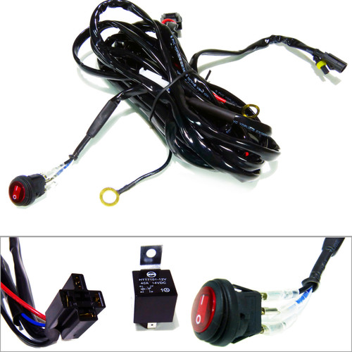 Wire Harness Relay with Switch for LED Lighting