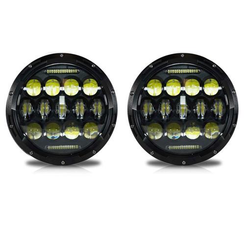 7 Inch Honeycomb Array Black LED Headlights Set