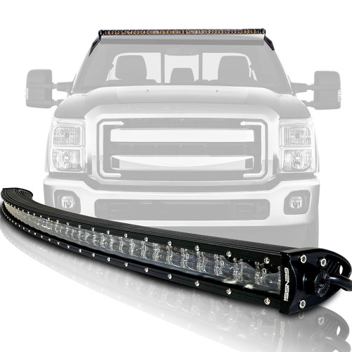 led light bar curved 288w 50 inches bracket wiring harness kit for ford  f250 f350 superduty