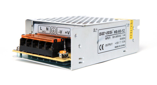 12V 60W Power Supply Regulated Switching