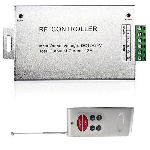 LED Strip RGB Controller RF Wireless w/Music Sensor