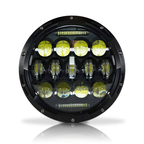 7 Inch Honeycomb Array Black LED Motorcycle Headlight