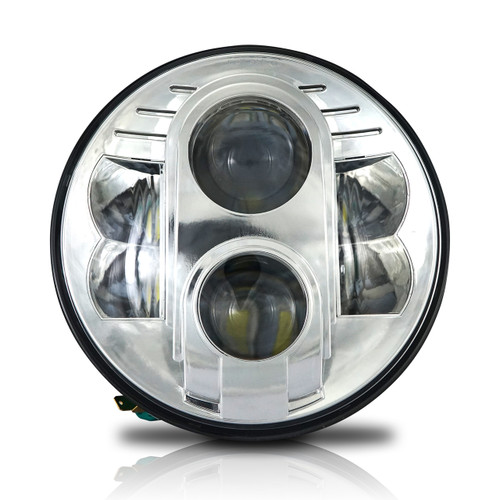 7 Inch Chrome Projector Led Motorcycle Headlight Genssi