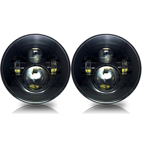 7 Inch Projector Black LED Headlights Set