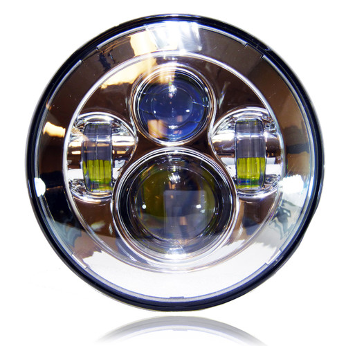7 Inch Projector Chrome LED Motorcycle Headlight