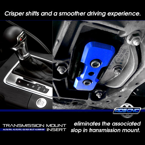 Transmission Mount Performance Upgrade Insert Billet For Audi A4/S4/A5/S5/Q5/SQ5 B8