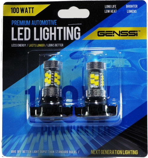 PY24W 5200s 100W LED Turn Signal Park Lamp Bulbs (2 Pack)