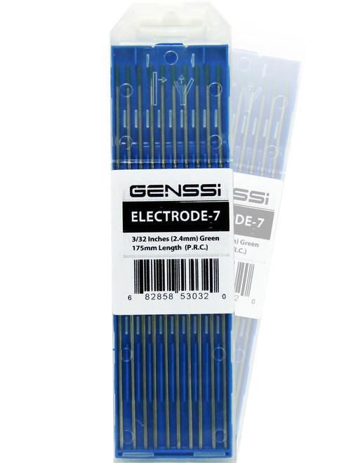 "2% Green 3/32 x 7"" 2.4mm TIG Welding Tungsten Electrode 175mm"