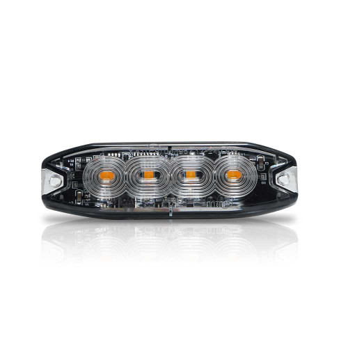 Surface Mount Pro Grade Amber LED Strobe Light 4 LED 12W