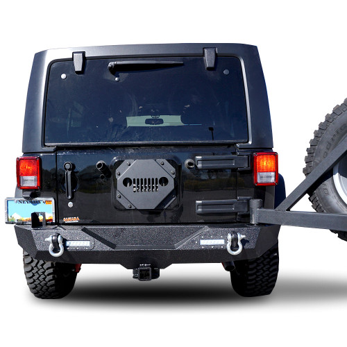 Vent Cover Tire Carrier Delete Kit Tramp Stamp For Jeep Wrangler 2007 2017