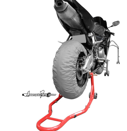 Bike Stand Front and Rear Spool Lift Combo Set Red