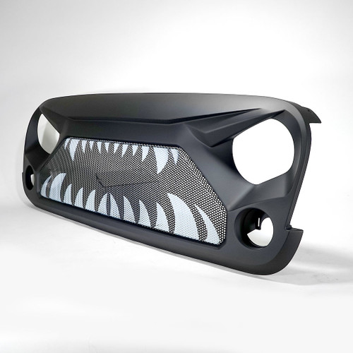 Angry Shark ABS Aggressive Style Grille For Jeep Wrangler JK 2007-2017