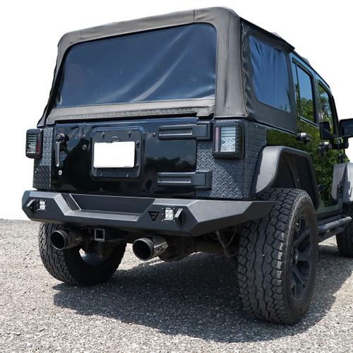 3D Pro Rear Bumper for Jeep Wrangler JK 2007-2018