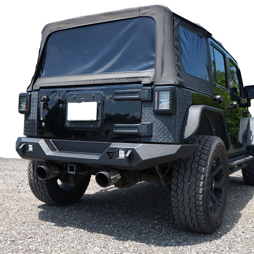 3D Pro Rear Bumper for Jeep Wrangler JK 2007-2018