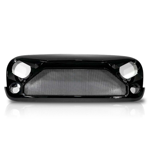 GLOSS MESH Painted Black Grille for Wrangler JK 2007-2018