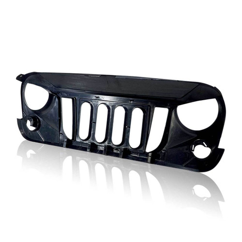 Gloss Black Monster Grille For Jeep Wrangler JK 2007-2017