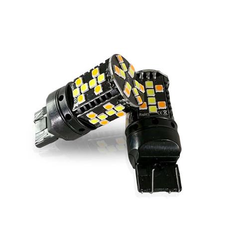 3157 3057 No Hyper Flash Super Canbus LED Bulbs Amber White (2 Pack)