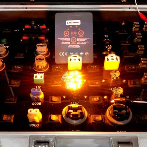1157 No Hyper Flash Super Canbus LED Bulbs Amber White (2 Pack)
