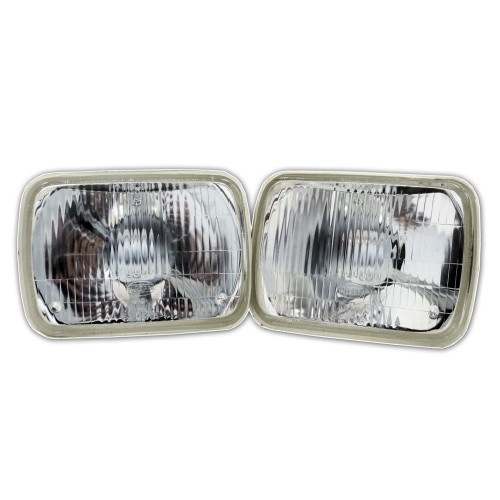 7X6 H6014 H6052 H6054 Seal-Beam type Replacement Glass Headlights (2 Pack)