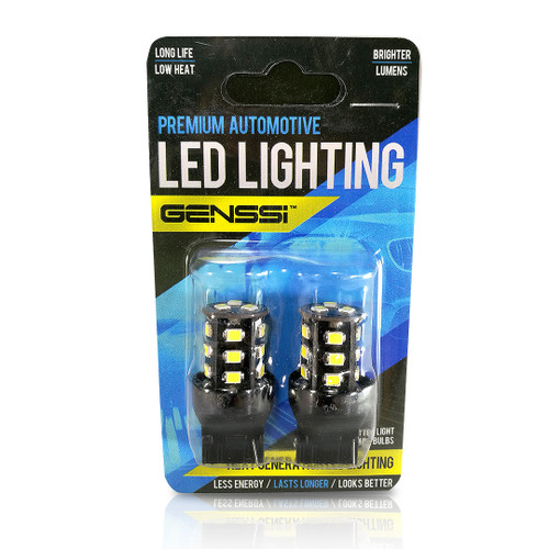 7440 7443 LED Bulb with Backup Reverse Light Flasher Flashing Pattern (2 Pack)