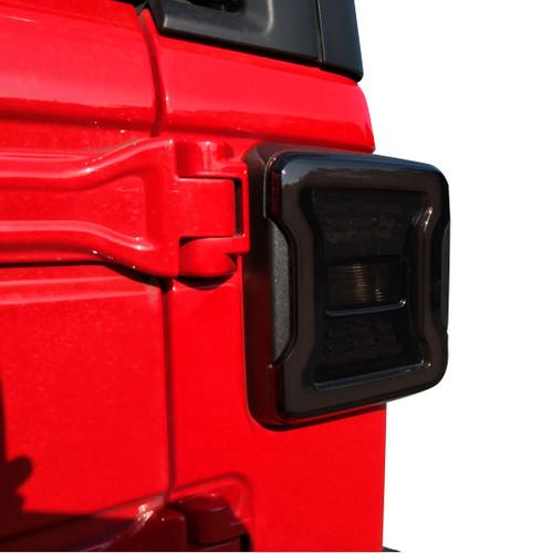 Smoked LED Tail Lights For Jeep Wrangler JL JLU 2018+