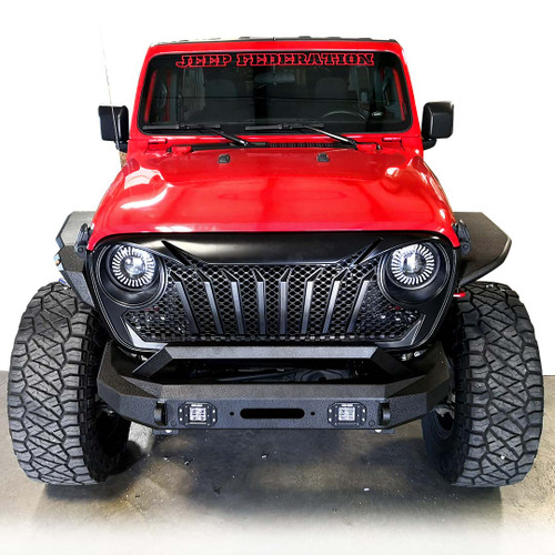 Punisher Mesh Grille for Jeep Wrangler JL JLU & Gladiator 2018+