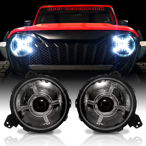 Cyclone LED Headlights for Wrangler JL JLU  Gladiator 2018 Up