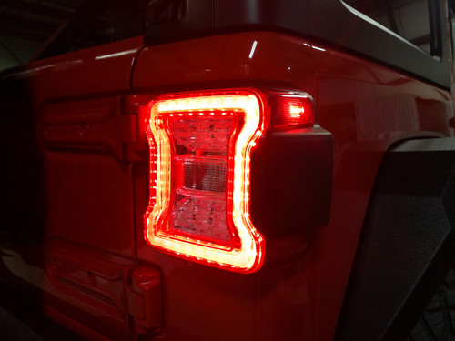 Clear Red LED Tail Lights For Jeep Wrangler JL JLU 2018+