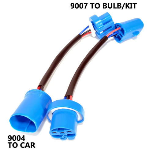 9004 to 9007 Conversion Bulb Kit Adapter Connector Harness