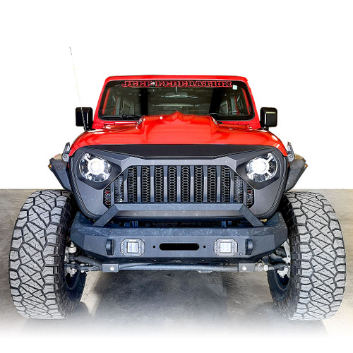 Avenger Style ABS Vents Hood for Jeep Wrangler JL JLU JT 2018 up