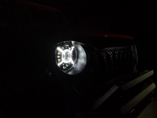 Cyclone Halo LED Headlights for Wrangler JL JLU  Gladiator 2018 Up
