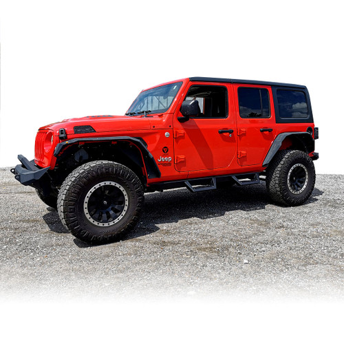 Running Boards Side Steps Rail Steps Rock MS Sliders for Jeep Wrangler JLU 4dr 2018 up