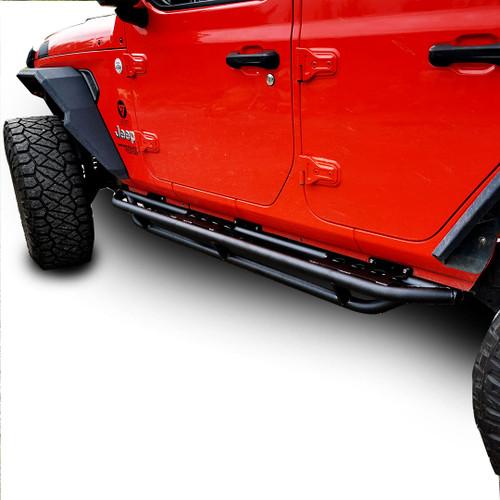 Running Boards Side Steps Rail Steps Rock Tube Sliders for Jeep Wrangler JLU 4dr 2018 up