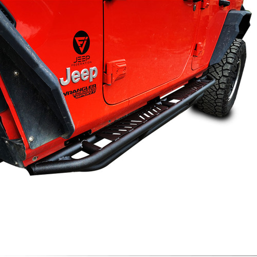 Running Boards Side Steps Rail Steps Rock Step Sliders for Jeep Wrangler JLU 4dr 2018 up