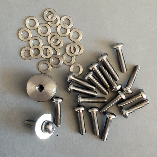 Titanium Engine Bay Cover Bolts and Washers for Ferrari 360 F430 14pcs Set