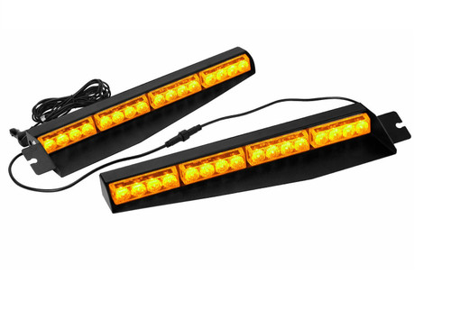 "Amber 17"" 32 LED  Emergency Strobe Warning Flashing Lamp"