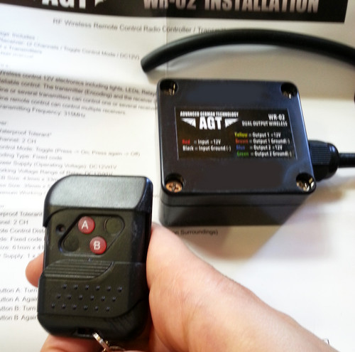 2 Channel Wireless On Off 12V Controller Waterproof