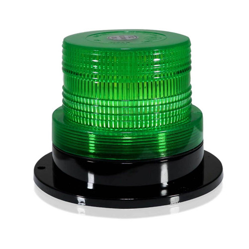Green LED Emergency Flash Strobe and Rotating Beacon Warning Light