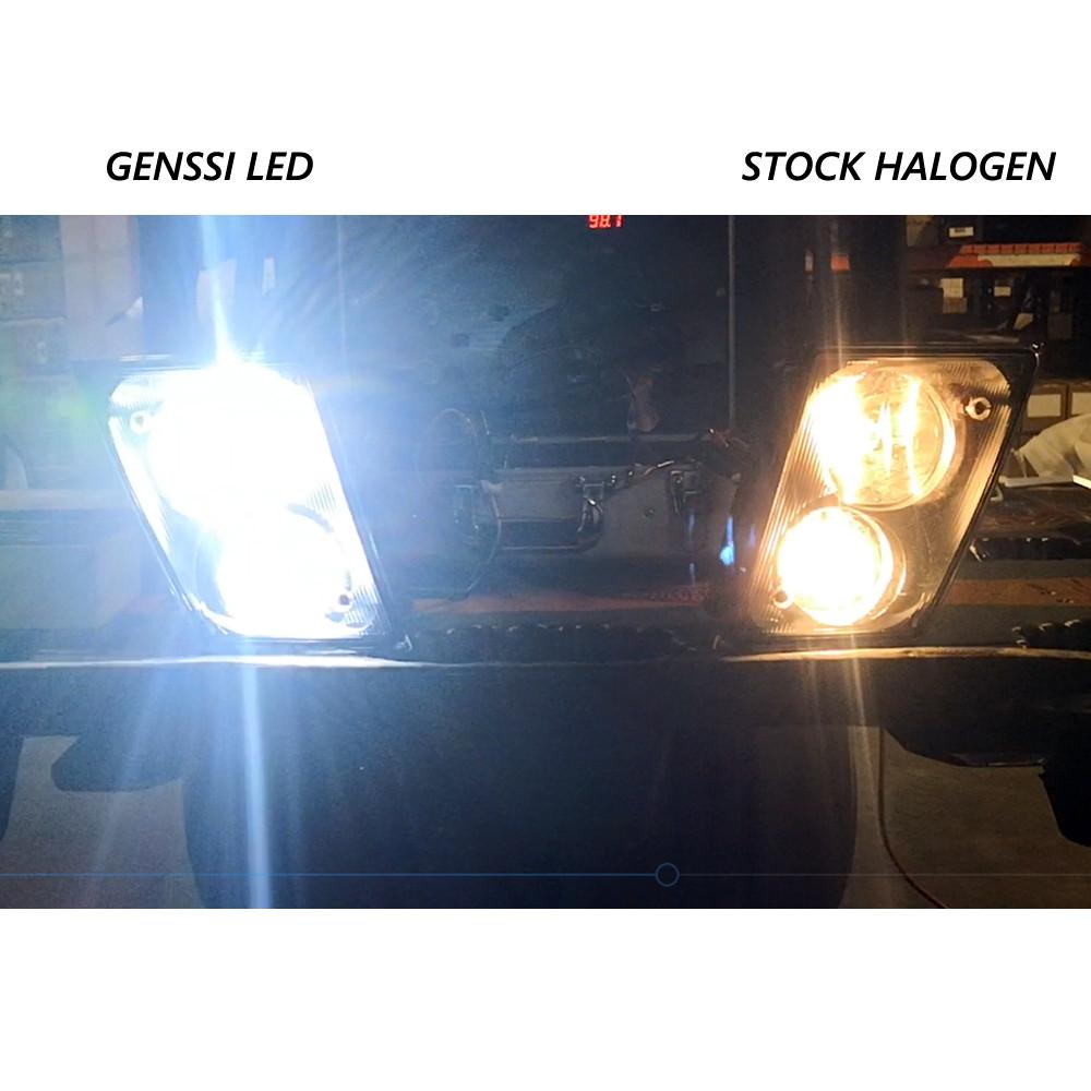 Volvo 480 E 55w Super White Xenon HID High//Low//LED Side Headlight Bulbs Set