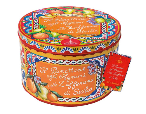 Red and Blue hat box tin