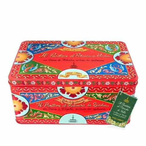 SOLD OUT - Pistachio Panettone Gift Set (Red Tin, 600g)