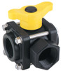 Banjo 1 in. 3-Way Side Load Poly Valve - Straight Handle