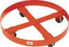 MECO 55 Gallon Round Drum Dolly with Polyolefin Casters