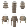 Dixon Powhatan 1 1/2 in. Hastelloy Adapters & Couplers - Type B Coupler - Female Coupler - Male NPT