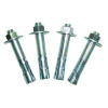 Vestil Manufacturing High Profile Safety Guard - Concrete Mounting Kit - (4) 3/4 in. x 4 1/4 in. Concrete Anchor Bolts - N/A